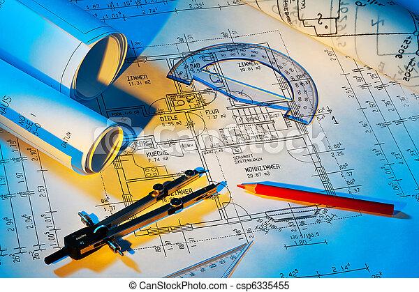 Blueprint of a house. Construction - csp6335455