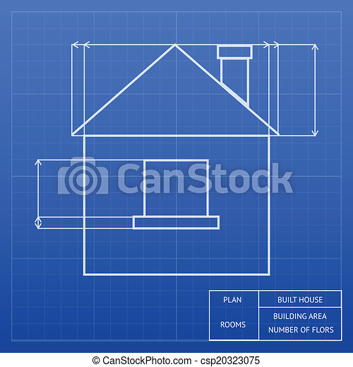 Blueprint of a house design architectural blueprint of a house blueprint of a house design csp20323075 malvernweather Images