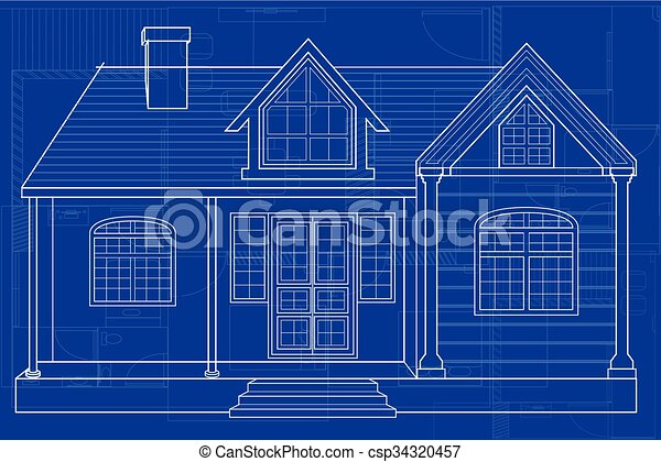 Easy to edit vector illustration of blueprint of building clipart blueprint of building csp34320457 malvernweather Gallery