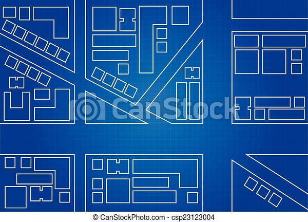 Blueprint of city map main street and buildings blueprint of city map csp23123004 malvernweather Choice Image