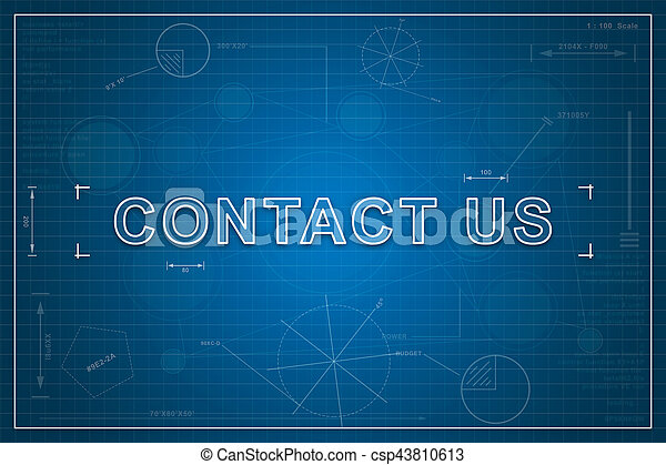 Blueprint of contact us contact us on paper blueprint stock contact us on paper blueprint background business concept malvernweather Gallery