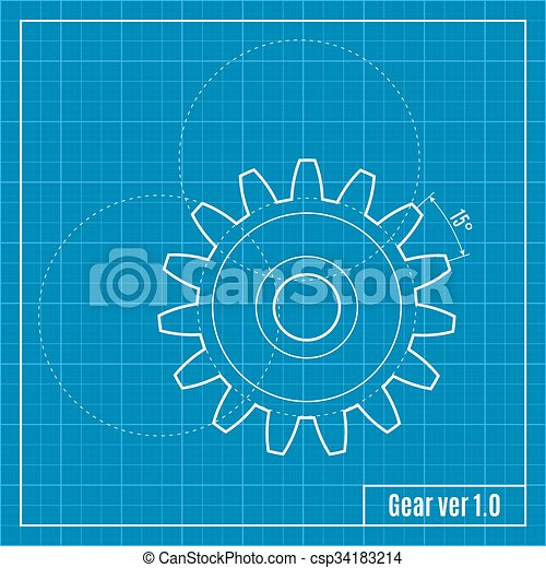 Blueprint of gear vector illustration blueprint of gear vector blueprint of gear vector illustration malvernweather Image collections