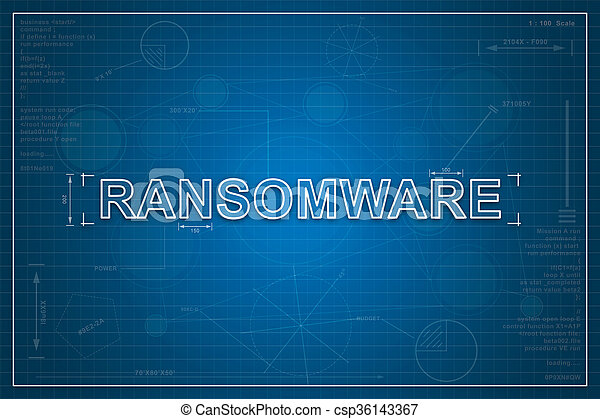 Blueprint of ransomware ransomware on paper blueprint stock blueprint of ransomware csp36143367 malvernweather Images