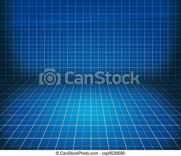 Blueprint Stage Background - csp9539580