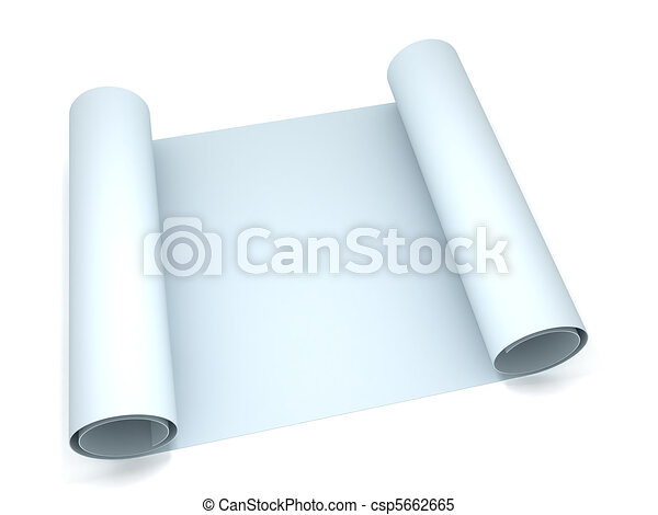 3d rendering of a blueprint roll of paper stock illustrations blueprint csp5662665 malvernweather Gallery
