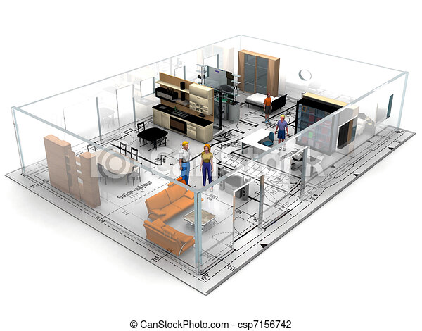 Blueprint with furniture blueprint with furniture csp7156742 malvernweather