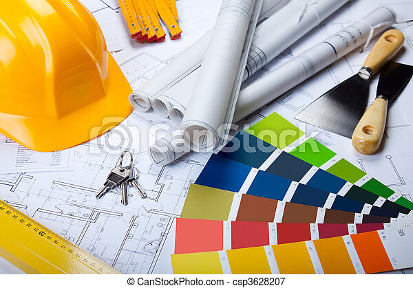 blueprints, инструменты, архитектура - csp3628207