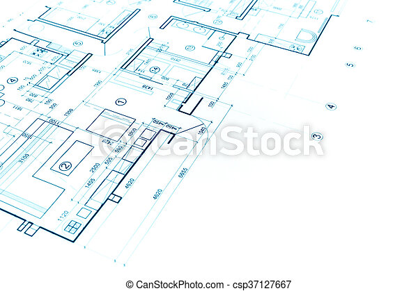 Blueprints Background With Technical Drawing Of Construction Plan    Csp37127667