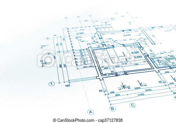Great Blueprints Background With Technical Drawing Of Construction Plan    Csp37127838