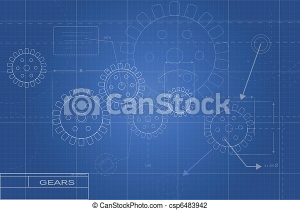 Blueprints Illustration - csp6483942