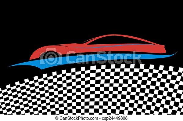 blue/red, automobile, simbolo - csp24449808