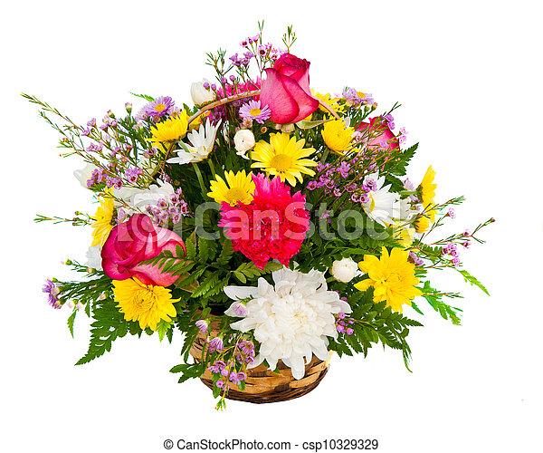 Farbige Blumenvereinbarung - csp10329329