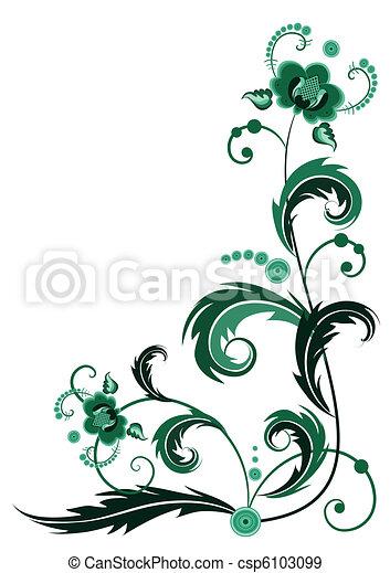 Grüne Blume - csp6103099
