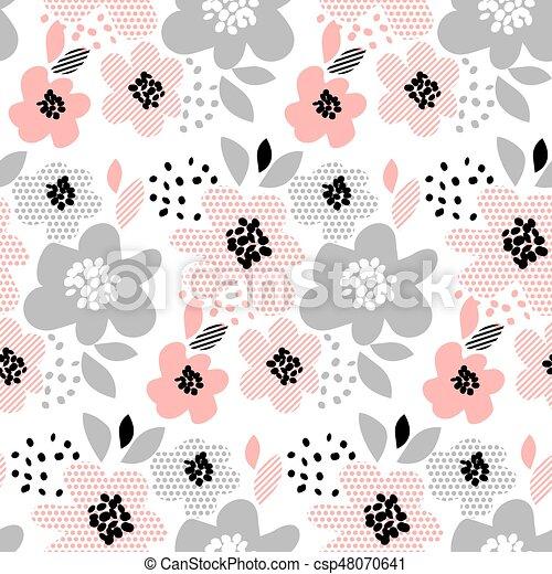 Blume, motiv, romantische , farbe, muster, verpackung,... EPS Vektor ...