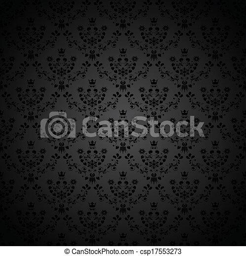 blume verzierung tapete seamless bild csp17553273 - Tapete Krone