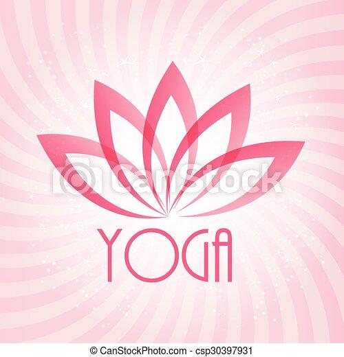 Blume Wohlfühlen Lotos Yoga Zeichen Vektor Spa Illustratio