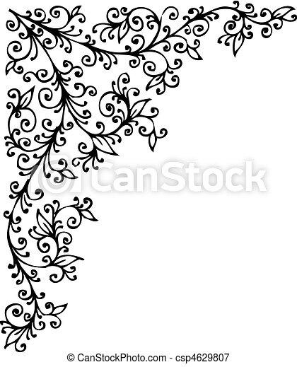 Floral Vignette CCCCXVI - csp4629807
