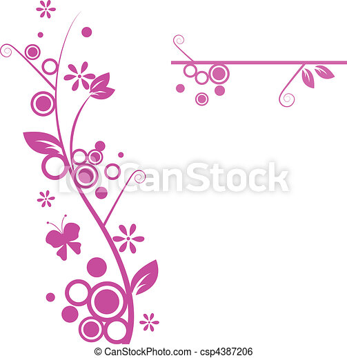 Blumenmuster - csp4387206