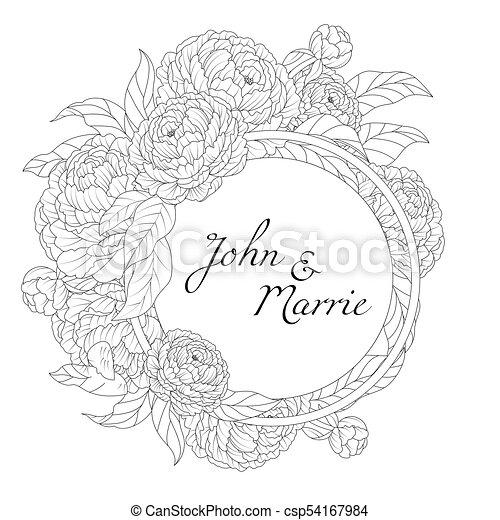 Blumen Hochzeitskarten Blumen Vektor Einladung Abbildung