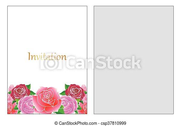Blumen Hochzeitskarten Blumen Wedding Karte Einladung