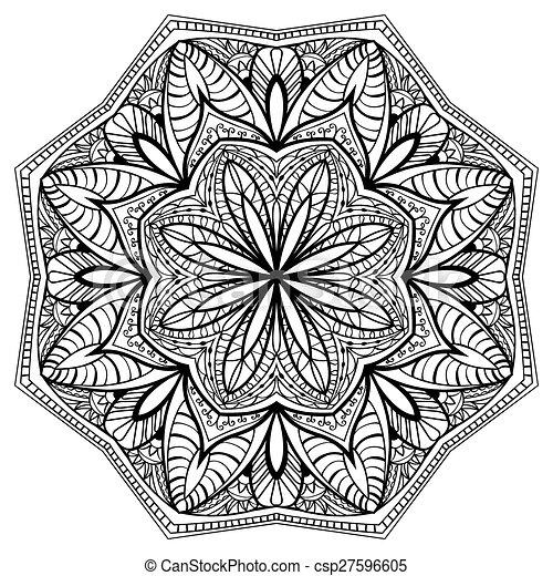 blumen kompliziert mandala muster elegant muster blumen delikat kompliziert schlanke. Black Bedroom Furniture Sets. Home Design Ideas