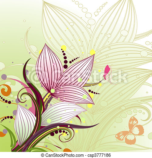 Abstract Blumenmuster - csp3777186