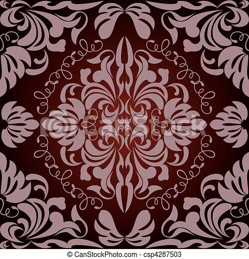 blumen muster, abstrakt, seamless - csp4287503