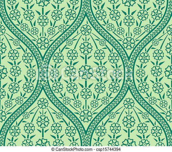 Blumen muster orientalische seamless muster tapete for Tapete orientalisch
