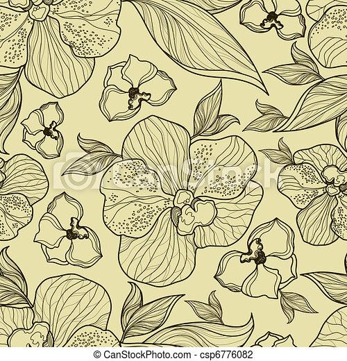 Nahmlose Blumenorchideen - csp6776082