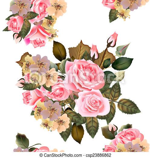 Blumen muster, tapete, seamless, rosen. Muster, tapete, seamless ...