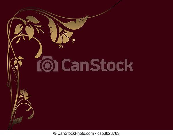 Roter Blumen Hintergrund - csp3828763
