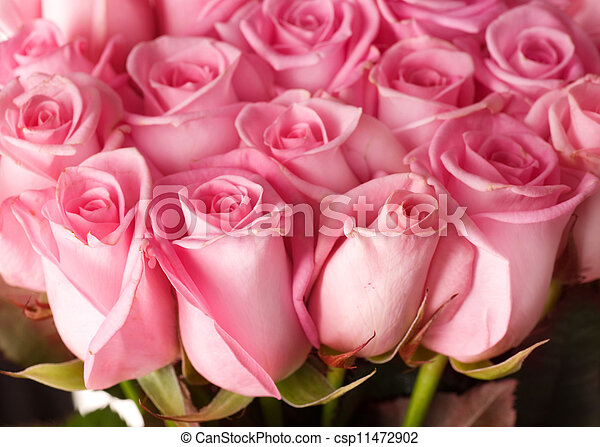 blumengebinde, groß, rosen - csp11472902