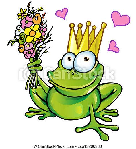 Prinz Frosch mit Strauß - csp13206380