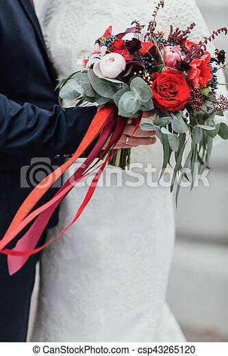 size 40 b2500 d334c blumengebinde, stallknecht, braut, band, halten zusammen, outd, wedding