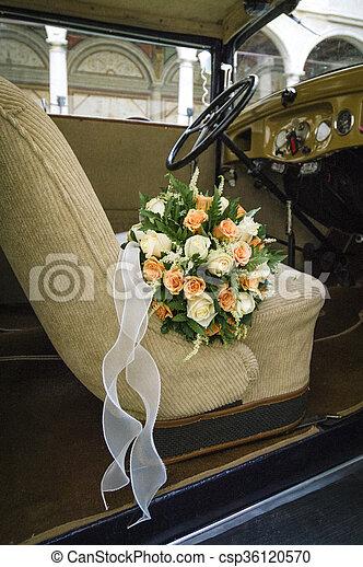 blumengebinde, wedding - csp36120570