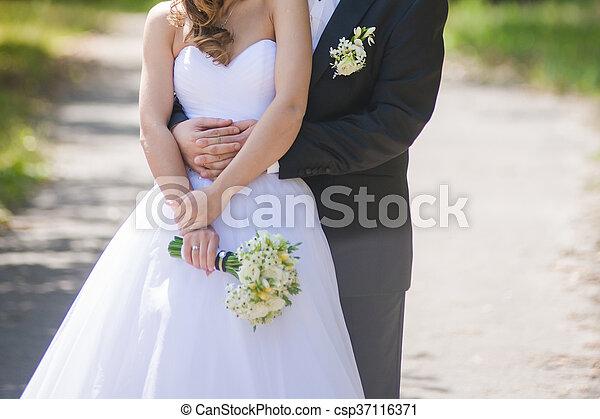 blumengebinde, wedding - csp37116371