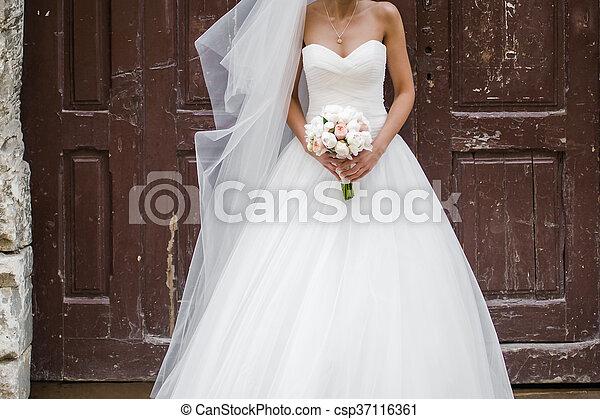 blumengebinde, wedding - csp37116361