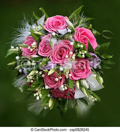 blumengebinde, wedding - csp0828245