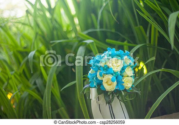 blumengebinde, wedding - csp28256059