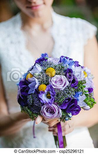 blumengebinde, wedding - csp25296121