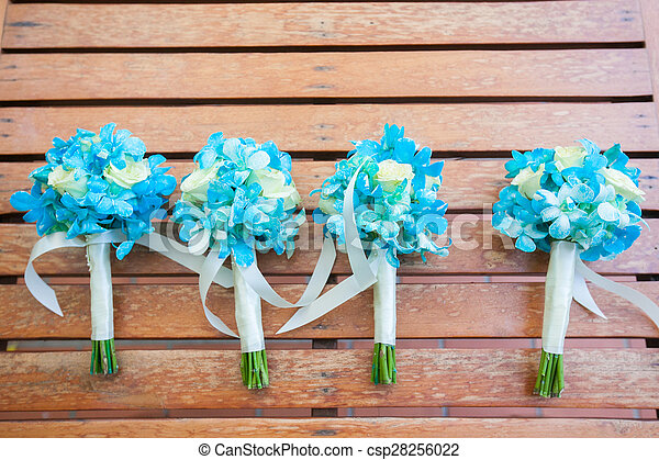 blumengebinde, wedding - csp28256022