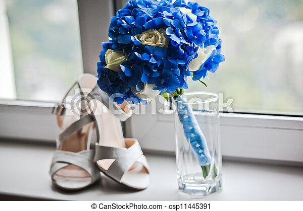 blumengebinde, wedding - csp11445391