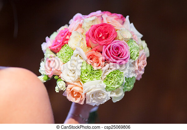 blumengebinde, wedding - csp25069806
