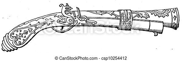 Blunderbuss Austrian cuirassiers, 1760 - csp10254412
