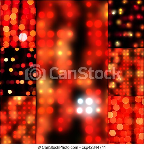 Blur abstract background bokeh effect in red color. blurred light in vintage retro tone. blurry bokeh circles for christmas soft focus dreamy set. defocus ... & Blur abstract background bokeh effect in red color. blurred light in ...