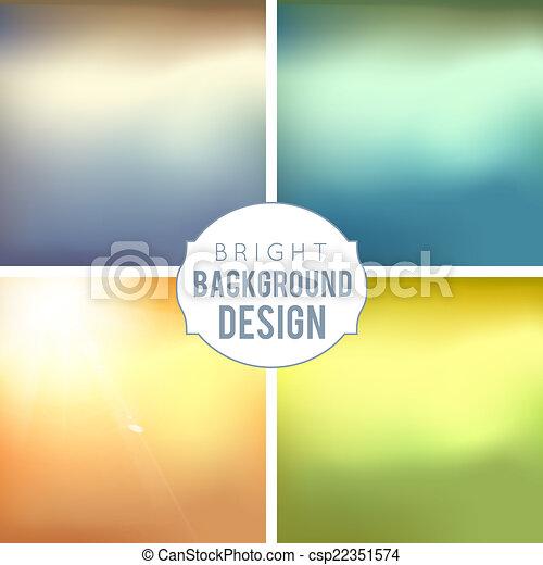 Blur Background Set - csp22351574