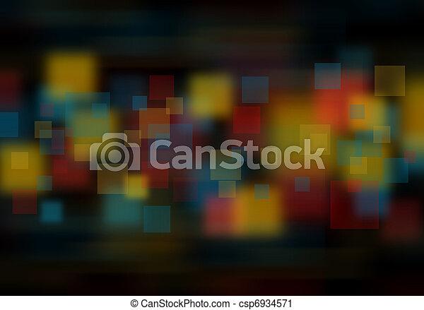 blur lights , defocused background - csp6934571