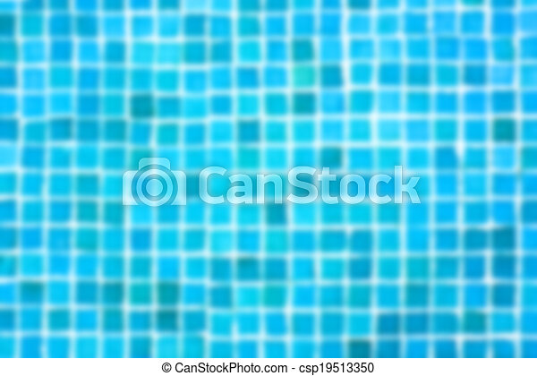 blured background of tiles in the swimming pool - csp19513350