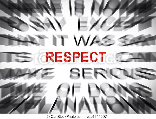 Blured text with focus on RESPECT - csp16412974