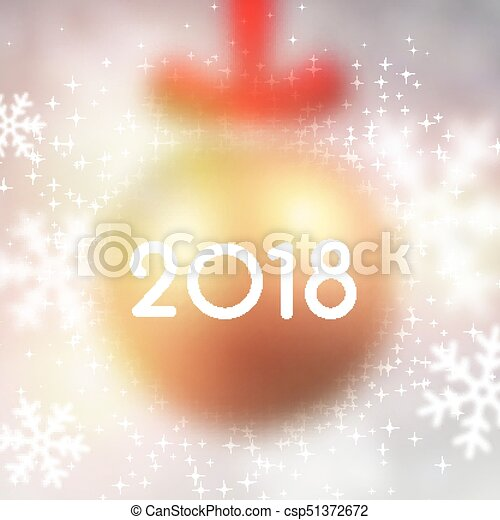 blurred 2018 new year card csp51372672